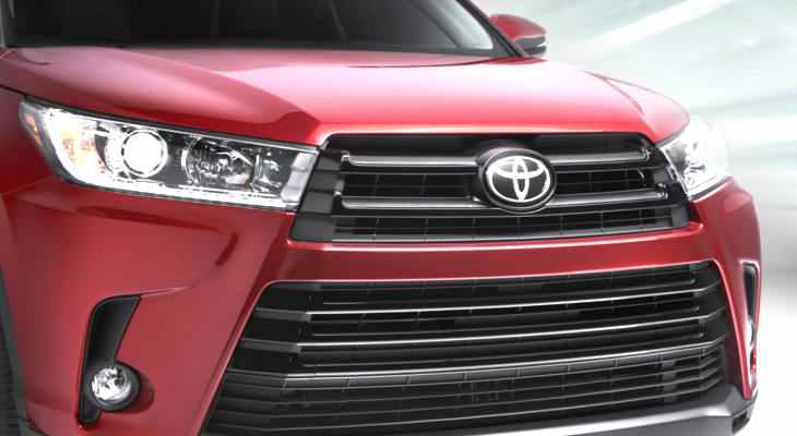 крупный план Toyota Highlander