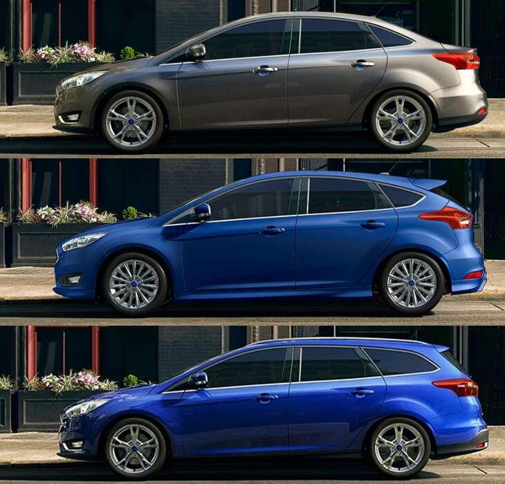 боковой вид Ford Focus