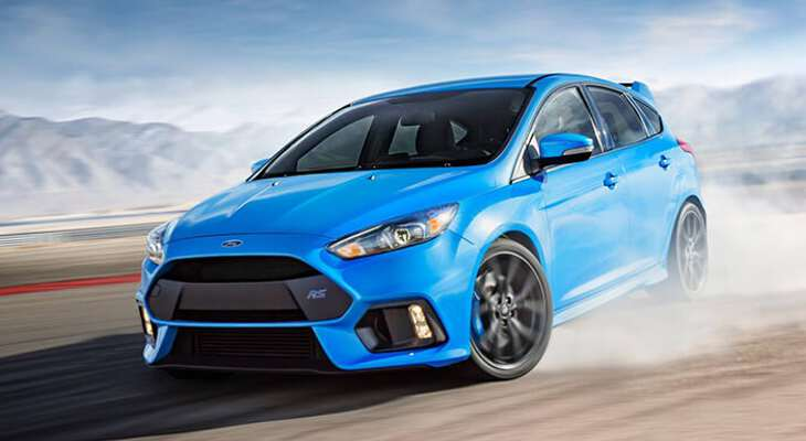 Ford Focus RS на трассе