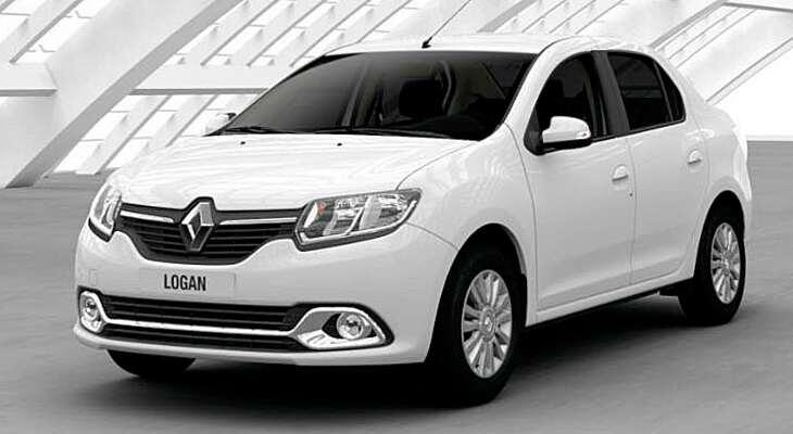 боковой вид Renault Logan 2017 года