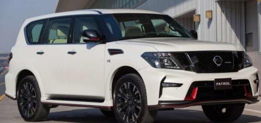 Nissan Patrol в белом цвете